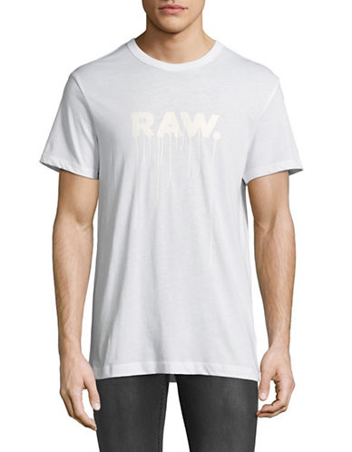 G-Star Raw Daefon R T Jersey T-Shirt-WHITE-Large