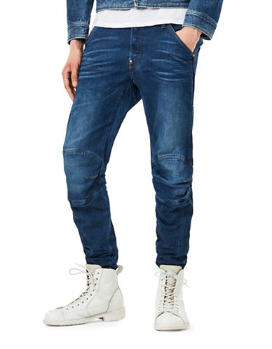 G-Star Raw Slim Brantley Medium Aged Jeans-BLUE-28X32