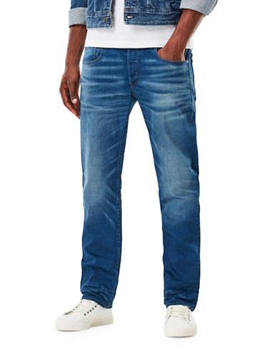 G-Star Raw Straight Itano Jeans-BLUE-30X32