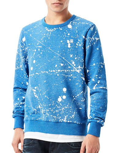 G-Star Raw Splatter Core Sweatshirt-BLUE-Large