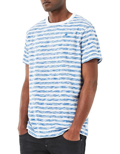 G-Star Raw Kantano Striped Jersey Tee-WHITE/BLUE-X-Large