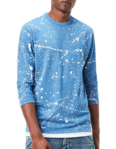 G-Star Raw Splatter Jersey Tee-BLUE-X-Large