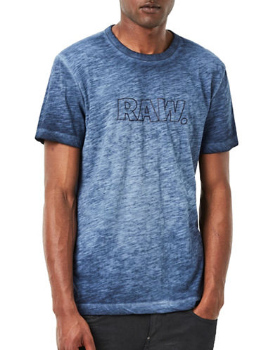 G-Star Raw Nazuru 2 Slub Jersey Tee-BLUE-Large