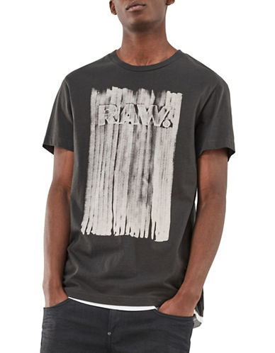 G-Star Raw Pertos Cotton Tee-GREY-Medium