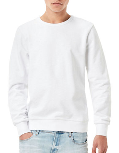 G-Star Raw Mr. Core Dukono Slub Sweatshirt-WHITE-Large