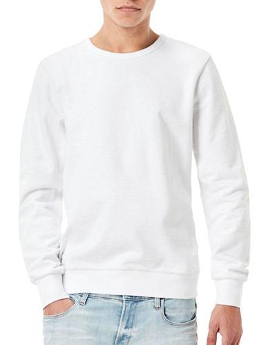 G-Star Raw Mr. Core Dukono Slub Sweatshirt-WHITE-Medium