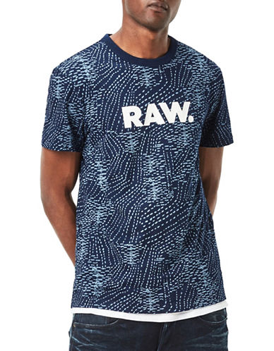 G-Star Raw SK Classic Bound Jersey Tee-BLUE-Medium