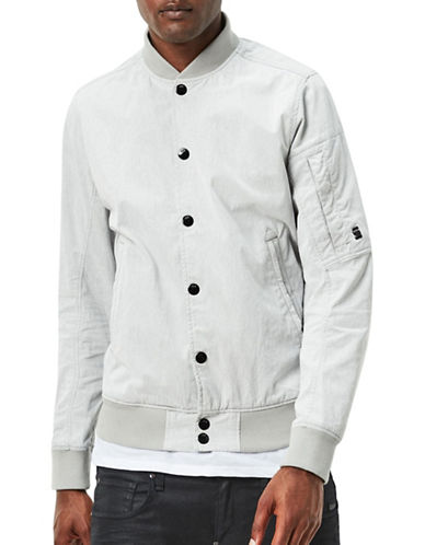 G-Star Raw Batt Sports Bomber Jacket-WHITE-XX-Large