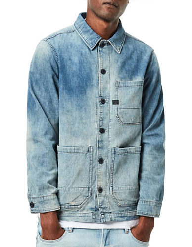 G-Star Raw Blake Slim-Fit Distressed Denim Jacket-BLUE-Large