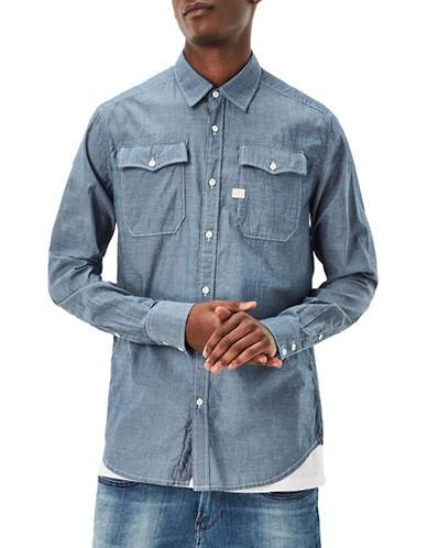 G-Star Raw Landoh Chambray Shirt-BLUE-Medium