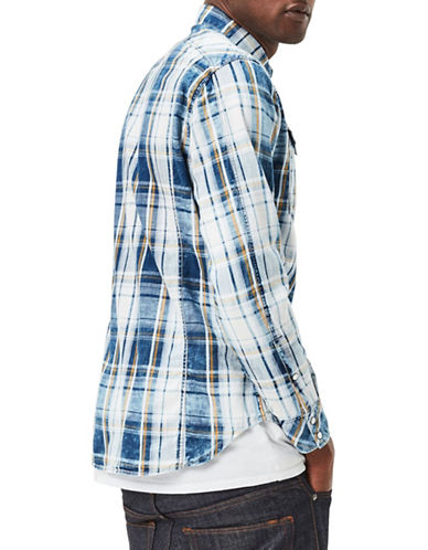 G-Star Raw Check Cotton Sport Shirt-WHITE-Large