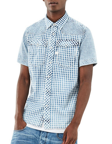 G-Star Raw Slim-Fit Checked Shirt-BLUE-XX-Large