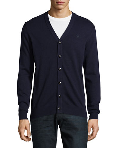 G-Star Raw V-Neck Button Cardigan-BLUE-Medium