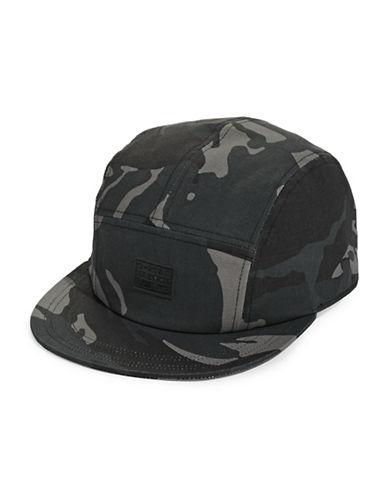 G-Star Raw Estan Camo Five-Panel Cap-BLACK-One Size