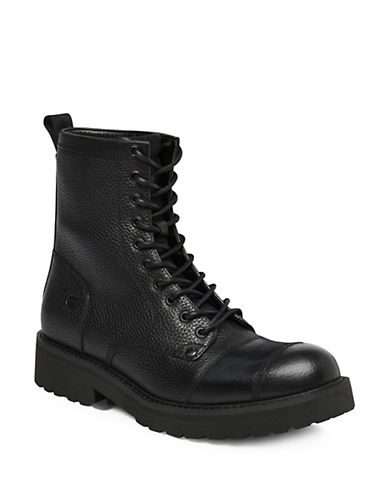 G-Star Raw Presting Leather Boots-BLACK-EU 42/US 9