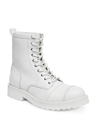 G-Star Raw Presting Leather Boots-WHITE-EU 41/US 8