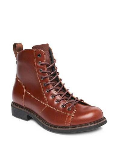 G-Star Raw Roofer Leather Boots-CHESTNUT-EU 41/US 8