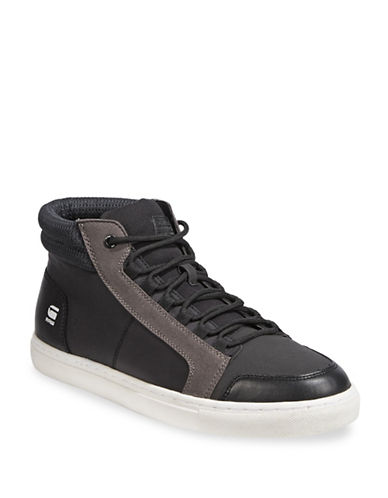 G-Star Raw Zlov Cargo Hi-Top Sneakers-BLACK-EU 44/US 11