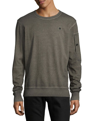 G-Star Raw Long Sleeve Cotton Sweater-ASFALT-Small