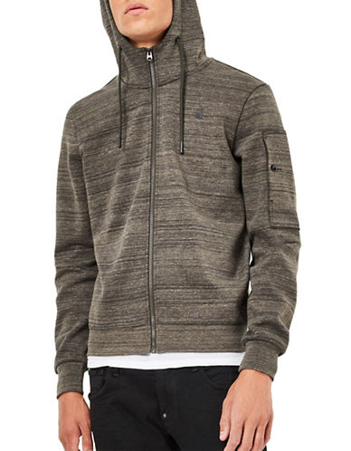 G-Star Raw Stalt Hooded Sweater-GREY-Medium