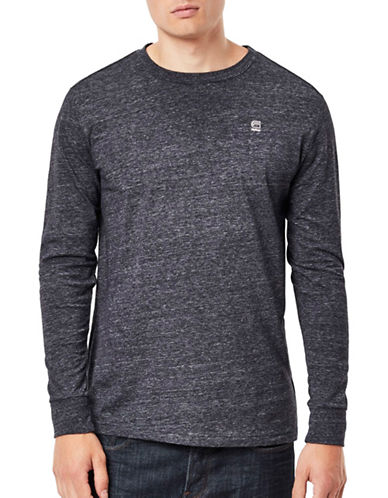 G-Star Raw Long Sleeve Osa Jersey T-Shirt-BLUE-Medium