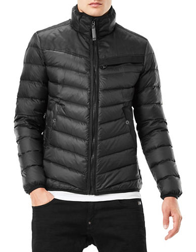 G-Star Raw Full-Zip Puffer Jacket-BLACK-Small