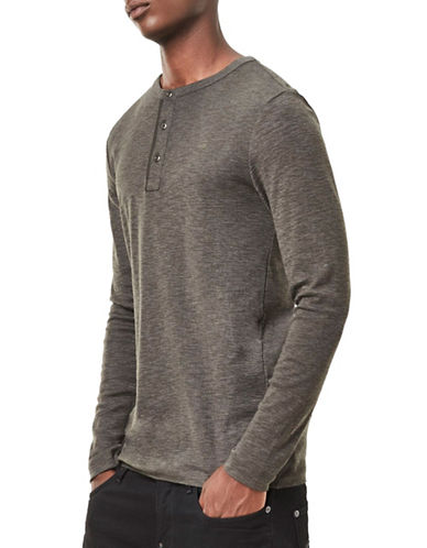 G-Star Raw Core Granddad Henley-GREY-Small