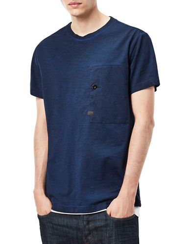 G-Star Raw Stalt Relaxed Cotton T-Shirt-BLUE-X-Small