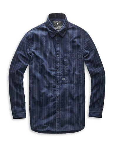 G-Star Raw Cotton Dress Shirt-BLUE-Small