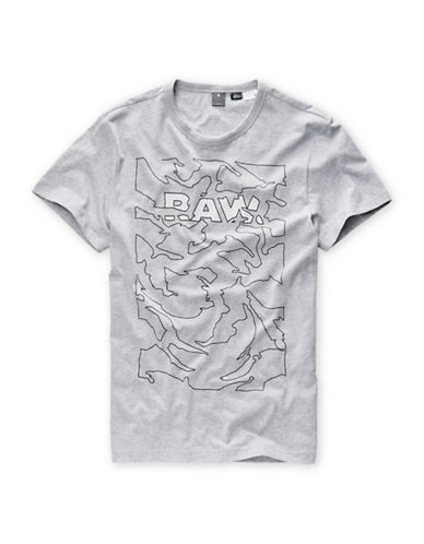 G-Star Raw Short Sleeve Cotton Tee-GREY-X-Large