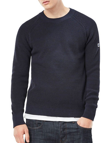 G-Star Raw Jayvi Cotton Sweater-BLUE-Medium