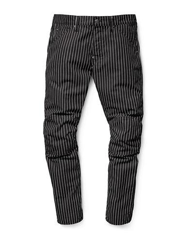 G-Star Raw Lucas Wabash Stripe Cotton Jeans-BLACK-33X32