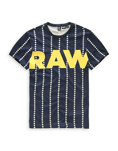 G-Star Raw Wabash Striped Cotton Tee-MULTI-COLOURED-Large