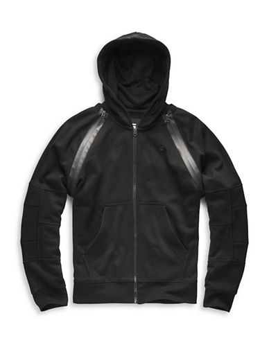 G-Star Raw Rackam Hooded Zip Sweater-BLACK-Medium