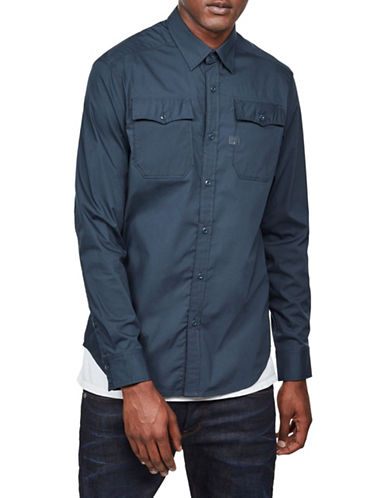 G-Star Raw Landoh Sport Shirt-LEGION BLUE-X-Small