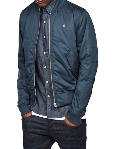 G-Star Raw Rackam Padded Cotton Bomber Jacket-BLUE-Medium