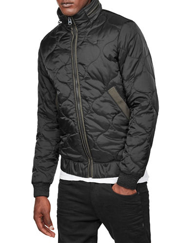 G-Star Raw Meefic Quilted Over shirt-BLACK-Small