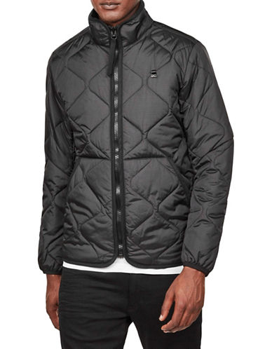 G-Star Raw Edla Quilted Overshirt-BLACK-Medium