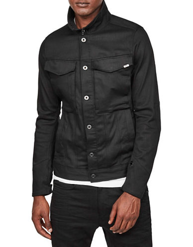 G-Star Raw Vodan 3D Slim Denim Jacket-BLACK-X-Small