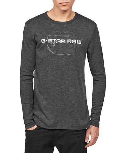 G-Star Raw Tars Graphic Tee-BLACK-Large