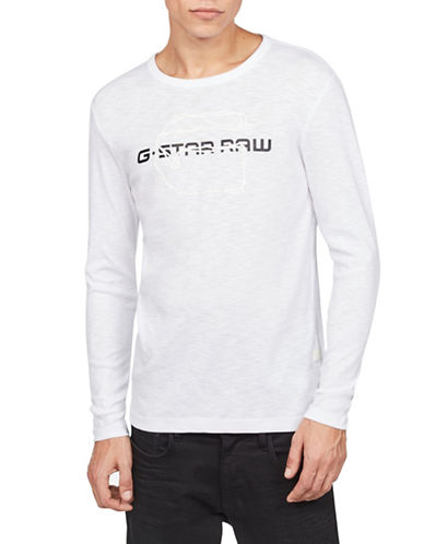 G-Star Raw Tars Graphic Tee-WHITE-Large