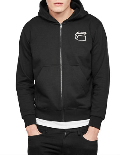 G-Star Raw Monthon Hooded Jacket-BLACK-Small