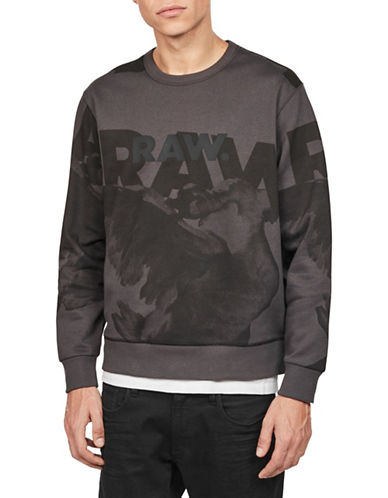 G-Star Raw Core Long-Sleeve Sweater-GREY-X-Large