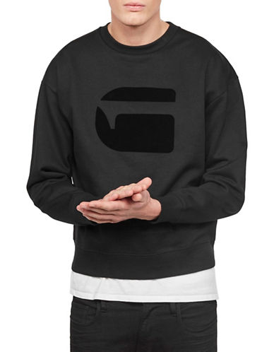 G-Star Raw Logo Long-Sleeve Sweater-BLACK-Small