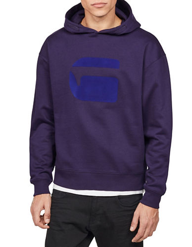 G-Star Raw Stor Long-Sleeve Hoodie-PURPLE-Small