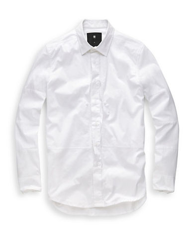 G-Star Raw Rackam Straight Sport Shirt-WHITE-Small