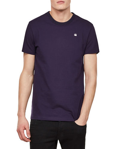 G-Star Raw Bonded Crewneck Tee-PURPLE-XX-Large