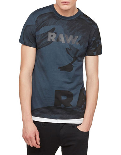 G-Star Raw Bonded Cotton Tee-GREY-Medium