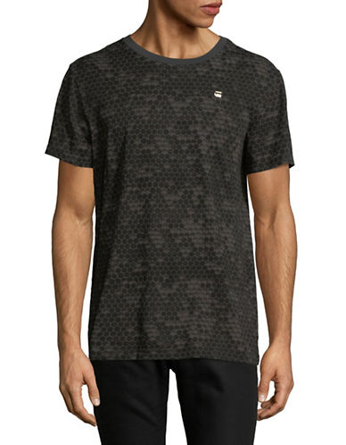 G-Star Raw Printed Short-Sleeve Cotton Tee-GREEN-Medium