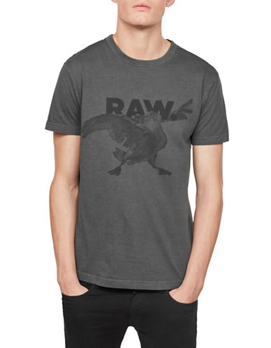 G-Star Raw Parta Relaxed Cotton Tee-BLACK-Large